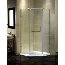 Semi-Frameless Neo-Angle Shower Enclosure with Low-Profile Base