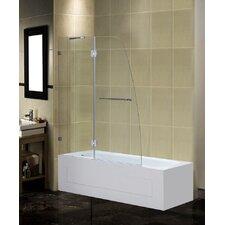 Frameless Pivot Tub-Height Shower Door