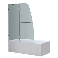 Frameless Pivot Tub-Height Shower Door