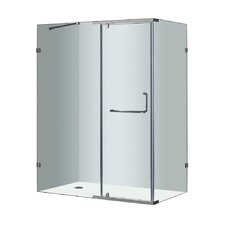 Semi-Frameless Rectangular Shower Enclosure
