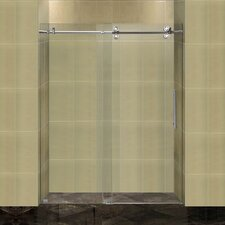 "Completely Frameless 60"" W x 75"" H Sliding Shower Door"