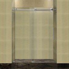 """Completely Frameless 60"""" W x 75"""" H Sliding Shower Door"""