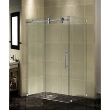 Completely Frameless Sliding Shower Door Enclosure