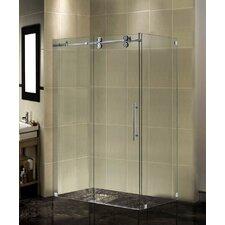 Completely Frameless Sliding Shower Door Enclosure