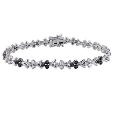 <strong>Amour</strong> Round Cut Diamond Link Bracelet