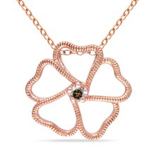 <strong>Amour</strong> Rose Gold and Diamond Floral Pendant