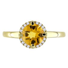 Yellow Gold Citrine Fashion Ring