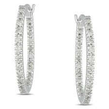 <strong>Amour</strong> Quarter Carat White Diamonds and Hoop Earrings
