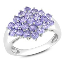 Sterling Silver Tanzanite Fashion Ring
