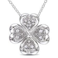 <strong>Amour</strong> Diamond Sterling Silver Fashion Pendant