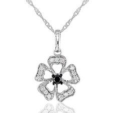 Rope Chain Round Cut Quarter Carat of Diamond Fashion Pendant