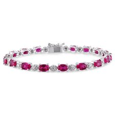 <strong>Amour</strong> Round Cut Ruby Bracelet