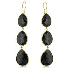 Pear Cut Onyx Drop Earrings