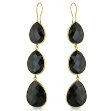 Pear Cut Onyx Drop Earrings