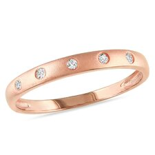 Silver Round Cut White Diamond Multi Stone Ring
