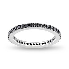 White Gold Round Cut Diamond Stacking Ring