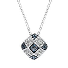 <strong>Amour</strong> Sterling Silver Round Cut Diamond Fashion Pendant