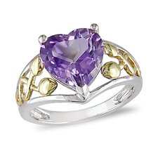 Heart Cut Amethyst Ring