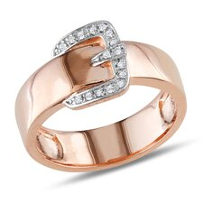 <strong>Amour</strong> Pink Silver Round Cut Diamond Fashion Ring
