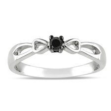 Sterling Silver Round Cut Diamond TW Fashion Ring