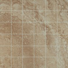 "Legend 13"" x 13"" Porcelain Mosaic in Beige"