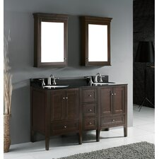 "Torino 60.25"" Double Bathroom Vanity Set"