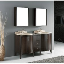 "Udine 60"" Double Bathroom Vanity Set"