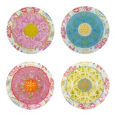 Dena Hampton House Glass 6'' Canape Plate