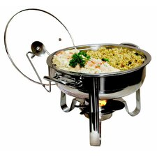 6 Piece 4-qt. Stainless Steel Chafing Dish Set