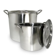 2 Piece Stock Pot Set