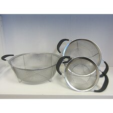 3 Piece Stainless Steel Mesh Colander Set