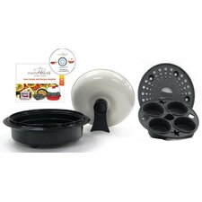 4 Piece 1.5 Qt. Microwave Cookware Everyday Pan Set