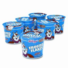Breakfast Cereal, Frosted Flakes, Single-Serve 2.1oz Cup, 6 Cups/box