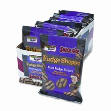 Keebler Mini Cookies, Fudge Stripes, 2Oz Snack Pack, 8 Packs/Box