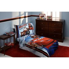Fastest Team 4 Piece Cars Toddler Bedding Set