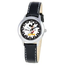 Kid's Mickey Mouse Time Teacher Watch in Black