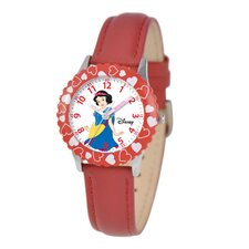 Kid's Snow White Time Teacher Watch in Red