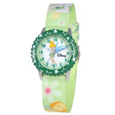 <strong>Disney</strong> Kid's Tinker Bell Time Teacher Watch in Green