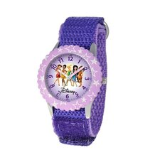 Kid's Fairies Time Teacher Velcro Watch in Purple