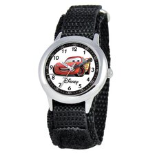 Kid's Cars Time Teacher Velcro Watch in Black