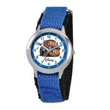 <strong>Disney</strong> Kid's Cars Time Teacher Velcro Watch in Blue