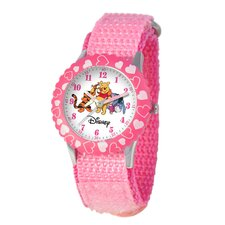 Kid's Pooh and Friends Time Teacher Watch in Pink