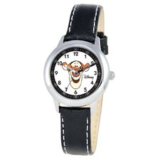 Kid's Tigger Time Teacher Watch in Black