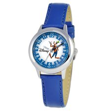 Kid's Goofy Time Teacher Velcro Watch in Blue