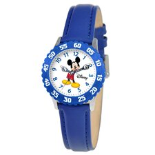 Kid's Mickey Time Teacher Watch in Blue