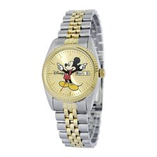"<strong>Disney</strong> Mens ""Mickey Mouse"" Bracelet Watch"