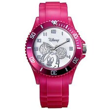 "Womens Mickey Mouse ""Sport"" Strap Watch"