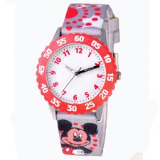Girl's Mickey Mouse Time Teacher Watch