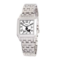 <strong>Disney</strong> Women's Mickey Mouse Perfect Square Bracelet Watch