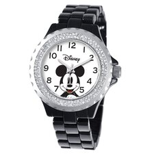 <strong>Disney</strong> Women's Mickey Mouse Enamel Sparkle Bracelet Watch